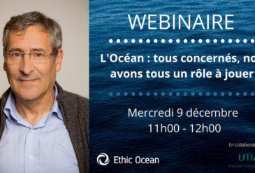 WEBINAIRE : L'Océan : tous concernés, nous avons tous un rôle à jouer !